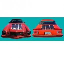 Camaro Hood/Trunk/Spoiler Decal Kit, Z28, Black, 1974