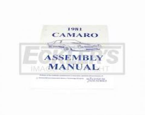 Camaro Factory Assembly Manual, 1981