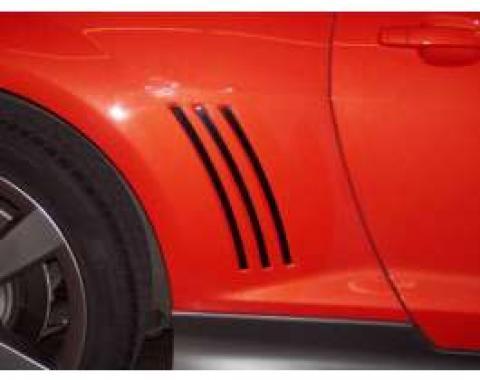 Camaro Side Vent Inserts, Black Powder Coat, 2010-2013