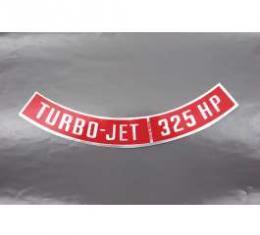 Camaro Air Cleaner Decal, Turbo-Jet 325 HP, 1967-1969