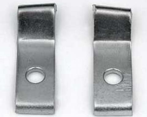 Camaro Deluxe Bumper Guard Mounting Brackets, Front, 1967-1968