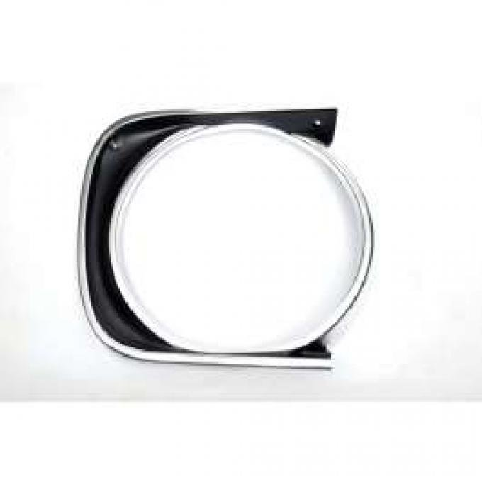 Camaro Headlight Bezel, For Cars With Standard Trim (Non-Rally Sport), Right, 1967