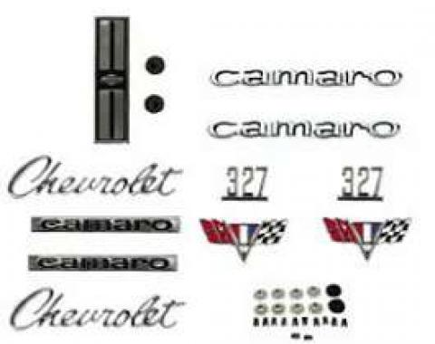 Camaro Emblem Kit, For Cars With Standard Trim (Non-Rally Sport) & 327ci, 1967