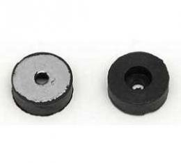 Camaro Bucket Seat Back Rubber Stoppers, With Metal Inserts & Mounting Screws, 1967-1970