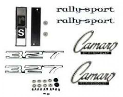 Camaro Emblem Kit, For Rally Sport (RS) With 327ci, 1968