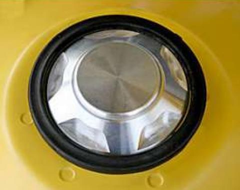 Camaro Shock Tower Caps, Billet Aluminum Finish, 2010-2011