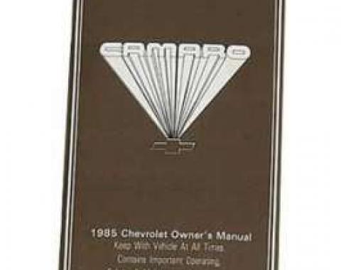 Camaro Owner's Manual, 1985