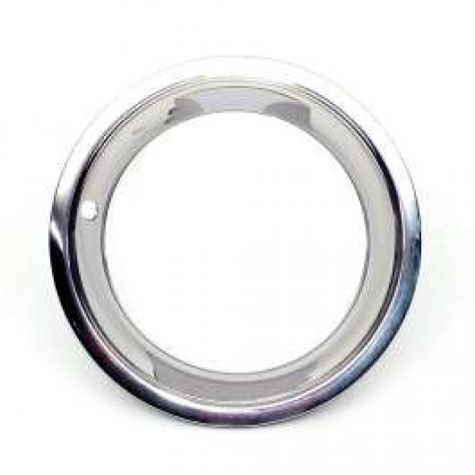 Camaro Rally Wheel Trim Ring, 15 x 8, With Original Style Clips & Rounded Outer Lip, GM, 1967-1969