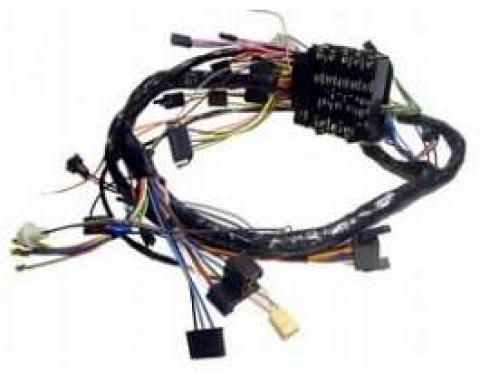 Camaro Under Dash Main Wiring Harness, For Cars With Automatic Transmission Column Shift Or Manual Transmission, Warning Lights, Air Conditioning & Without Console, 1969