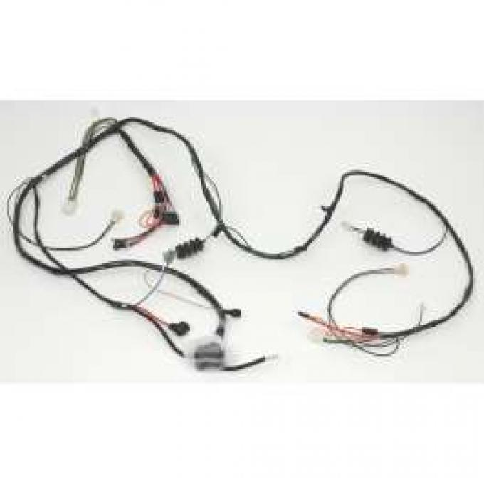 Camaro Front Lighting Wiring Harness, V8, For Cars With Gauges, 1968