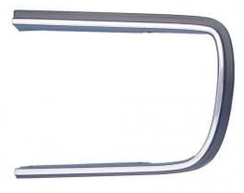Camaro Headlight Door Molding, Left, Chrome & Black, Rally Sport (RS), 1967-1968