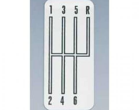 Camaro Shifter Indicator Plate, 6-Speed Transmission, Stainless Steel, 1968-1981