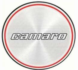 Camaro Hub Cap Insert, Base Model, Black And Red Rings, 1980