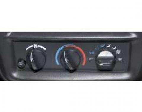 Camaro Air Conditioning Control Panel, For Cars With Rear Defogger, 2000-2002