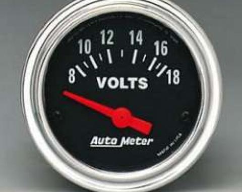 Camaro Voltmeter, Chrome, AutoMeter