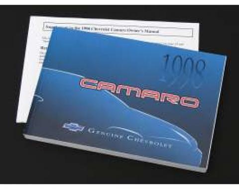 Camaro Owner's Manual, 1998