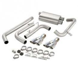 Camaro Exhaust System, Power-Pulse, With Pro-Series 3-1/2 Tips, LT1 Dual Cats, CORSA, 1995-1997