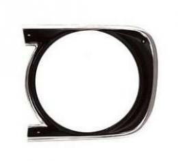 Camaro Headlight Bezel, For Cars With Standard Trim (Non-Rally Sport), Left, 1968