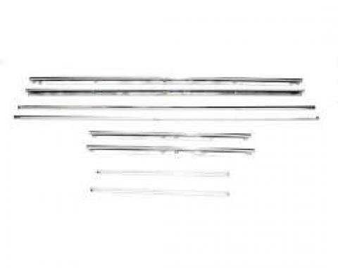 Camaro Door Panel & Rear Side Panel Molding Kit, Standard Interior, Stainless Steel, Coupe, 1967