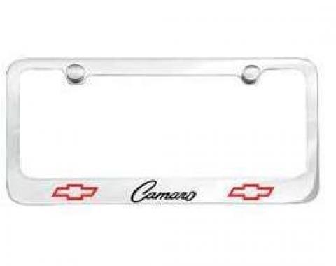 Camaro License Plate Frame, Bowtie, 1968-1969