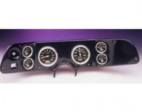 Camaro Dash Panel, With 6 AutoMeter NV Gauges, Black, 1970-1978