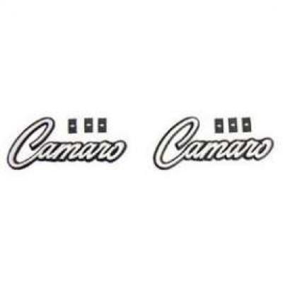 Camaro Door Panel Emblems, Deluxe Interior, 1968-1969