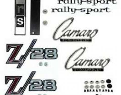 Camaro Emblem Kit, For Z28 With Rally Sport (RS) Package, 1968