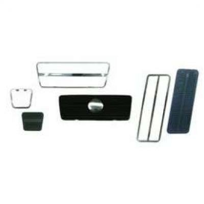 Camaro Pedal Pad & Trim Kit, For Cars With Front Disc Brakes & Automatic Transmission, 1969-1981