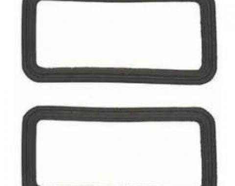 Camaro Back-Up Light Housing To Body Gaskets, Molded, Rally Sport (RS), 1967-1968