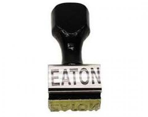 Camaro Eaton Clutch Fan Stamp, Straight Lettering, 1967-1969