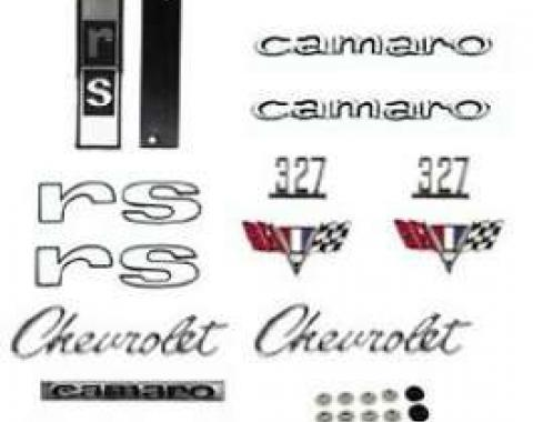 Camaro Emblem Kit, For Rally Sport (RS) With 327ci, 1967