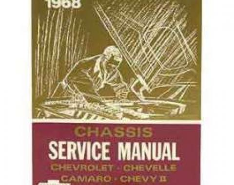 Camaro Book, Chevrolet Chassis Service Shop Manual, 1968
