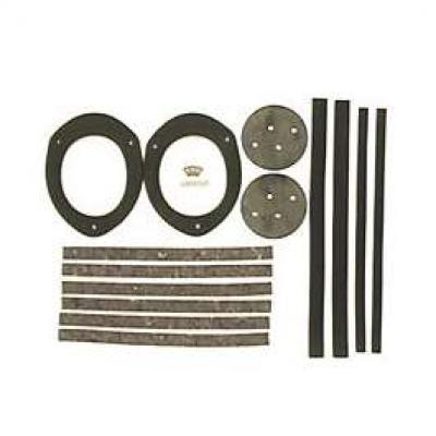 Camaro Dash Duct Seal Set, For Cars With Air Conditioning, 1967 & Astro Vent, 1968