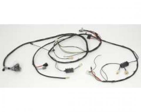 Camaro Front Lighting Wiring Harness, V8, For Cars With Warning Lights, 1968