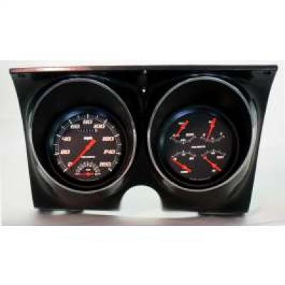 Camaro Updated Gauge Kit, Velocity Black Series, Classic Instruments, 1967-1968
