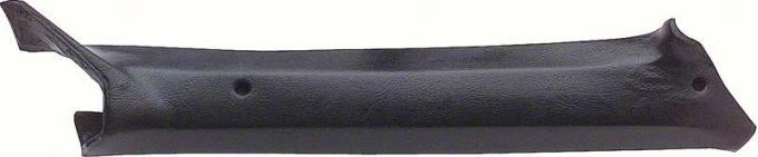 Camaro Pillar Post Moldings Inner, Coupe, Black, 1969