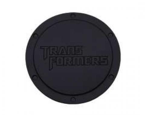 Camaro Transformers Logo, Black Billet, Non-Locking Gas Door, 2010-2011