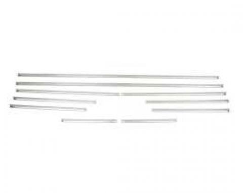 Camaro Door Panel & Rear Side Panel Molding Kit, Standard Interior, Stainless Steel, Coupe, 1968