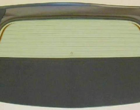 Camaro Rear Glass, With Defroster, Convertible, Stayfast, Tan with Black Backing, 1994-2002