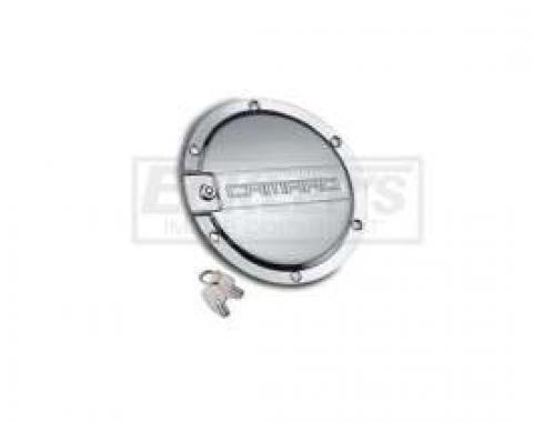 Camaro Polished Locking Fuel Door,DefenderWorx,2010-2014