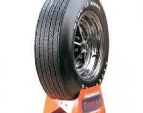 Camaro Tire, F70 x 15, Firestone Wide Oval, With Raised White Letters, 1967-1974