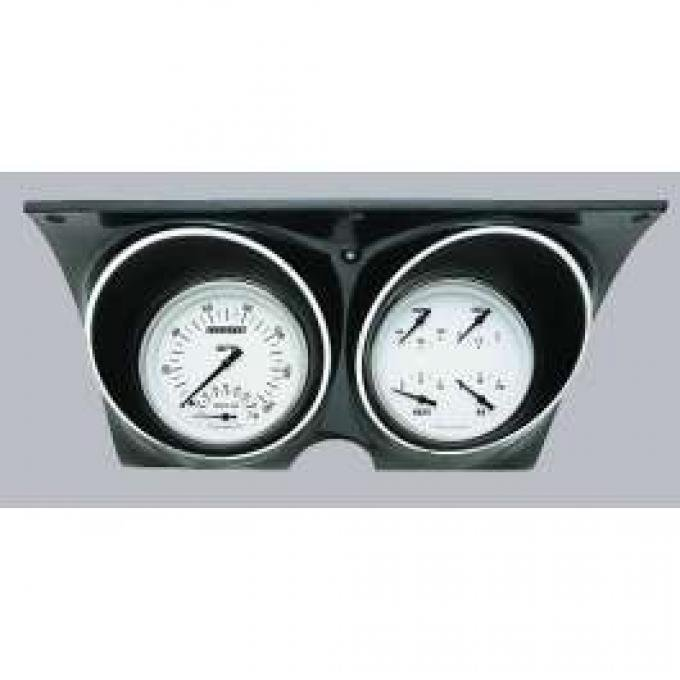 Camaro Updated Gauge Kit, With White Dials & Black Numbers/Needles, Classic Instruments, 1967-1968