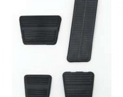 Camaro Pedal Pad Kit, Gas, Brake, Parking Brake & Clutch, For Cars With Manual Transmission & Disc Brakes, 1972-1981