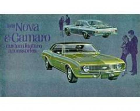 Camaro Custom Feature Accessories Booklet, 1969