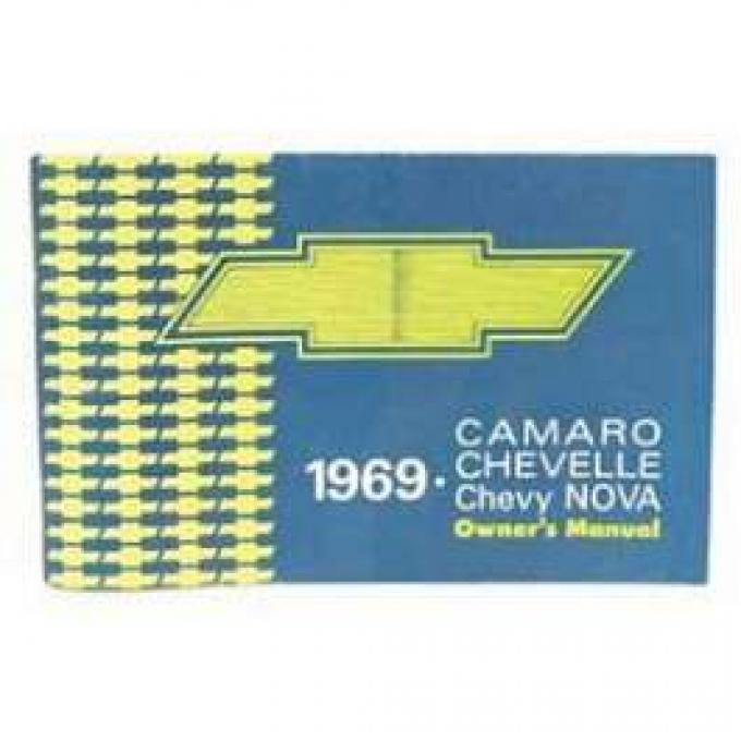 Camaro Owner's Manual, Glove Box, 1969