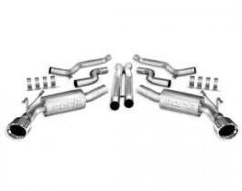 Camaro Exhaust System, Borla Cat-Back, ATAK, 6.2L, 2010-2013