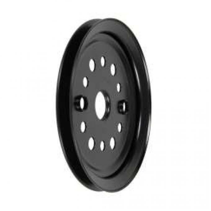 Camaro Crankshaft Pulley, 327-350ci, Single Groove, For Cars Without Air Conditioning & A.I.R. Pump, 1967-1968
