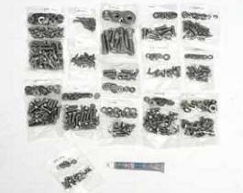 Camaro Body Fastener Kit, Hex Head Style, Stainless Steel, 1970-1973