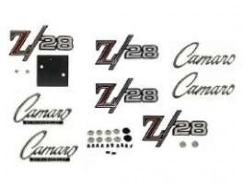 Camaro Emblem Kit, For Z28 With Standard Trim (Non-Rally Sport), 1969
