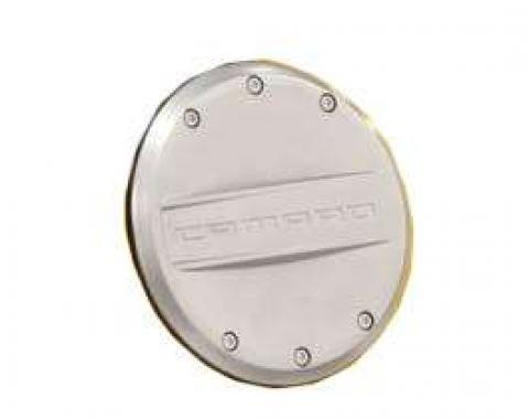 Camaro Fuel Door, Satin Nickel,2010-2013